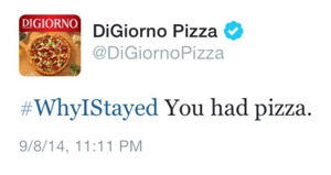 DiGiorno Shows Why You Should Read Twitter Hashtags Before Using Them